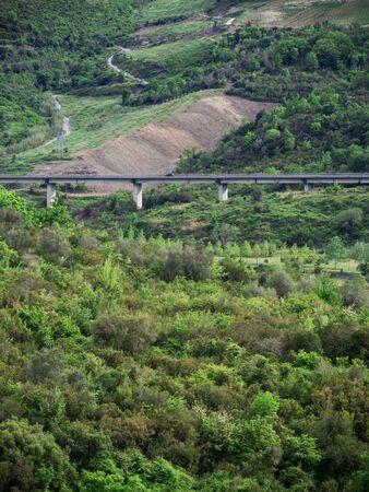 Beautiful nature in Cilento with road Standard-Bild