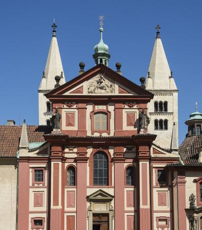 Historical buildings Praga in a sunny day