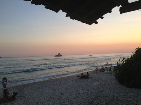 brazil beach: BRAZIL BRAZIL - BEACH - MARESIAS - LANDSCAPE - LANDSCAPE - BEACH - Sunset- people- PESSOAS.JPG