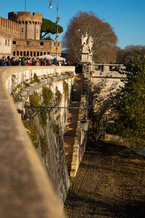 Views of Castel SantAngelo, Lungotevere Castello, Roma, Italy Stock fotó