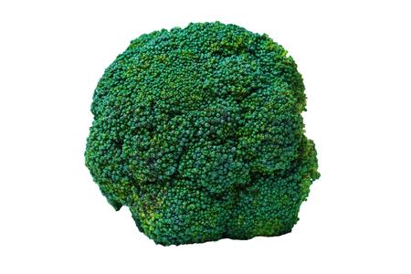 Broccoli isolated on white background. Fresh ripe vegetables, vitamins. Closeup