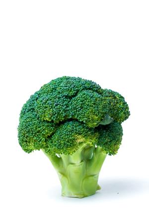 Broccoli isolated on white background. Fresh ripe vegetables, vitamins Imagens