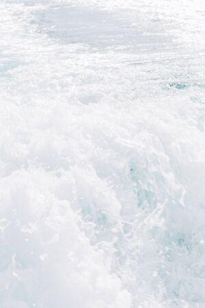 Beautiful white waves on the sea, close up Foto de archivo - 131351708