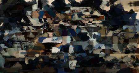 Aggressive abstract drawing sloppy and dark. Contemporary art - chaos and mud.