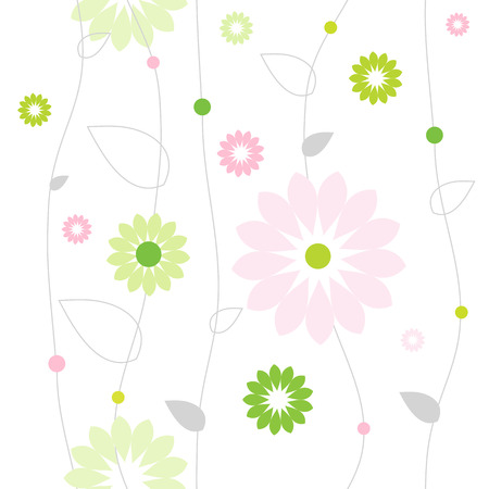 Seamless vector pattern with flowers Illustration