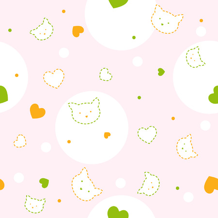 Cute seamless vector pattern for children Vector