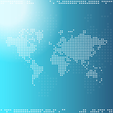 future advertising: Digital world map