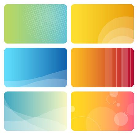 Reihe von bunten Visitenkarten