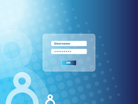 Password security window Vector
