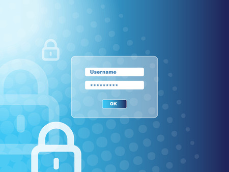 lösenord: Password security window