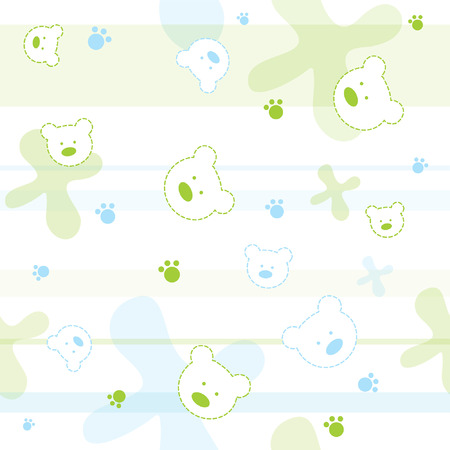 Cute seamless pattern with little bears