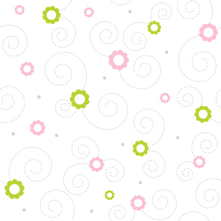 Seamless floral vector pattern Vector