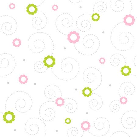 Seamless floral vector pattern Illustration