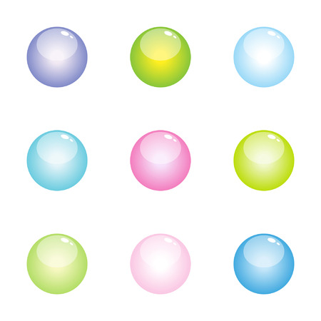 Set of buttons - glass effect Vector