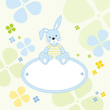 Cute bunny - send a message Stock Vector - 3398620