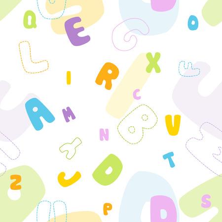 grammar: Seamless alphabet pattern