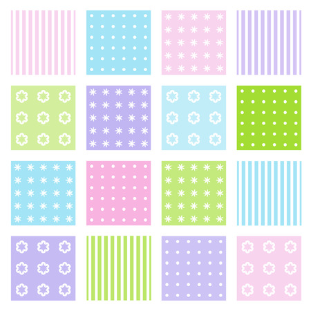 Set of seamless patterns Stock Vector - 3398624