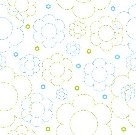 cotton plant: Seamless flower pattern