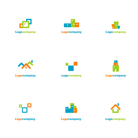 Collection of logo elements Vector