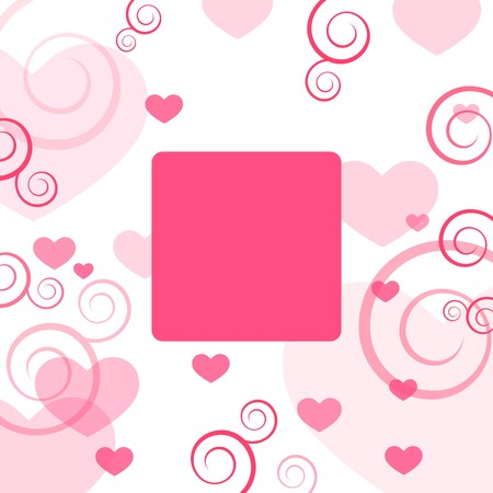 Valentine's card with copy space Stock Photo - 4257617
