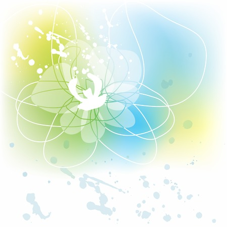 White orchid background Vector