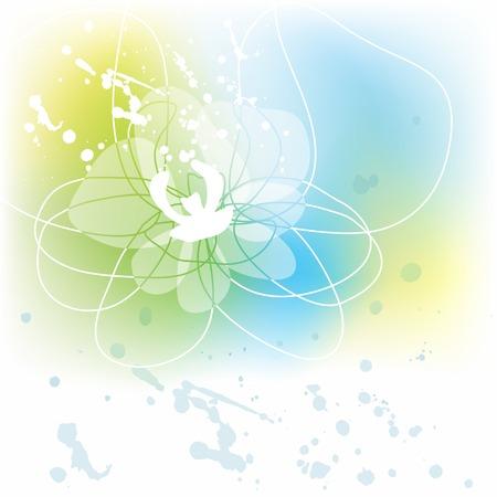 White orchid background Illustration