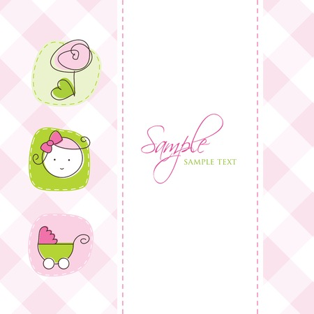 Baby arrival card with copy space Stock Vector - 8859762