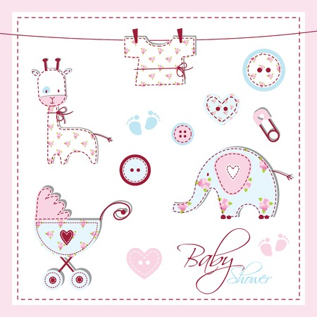 an adorable: Baby shower design elements