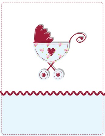 Baby arrival card with copy space Stock Vector - 8859764