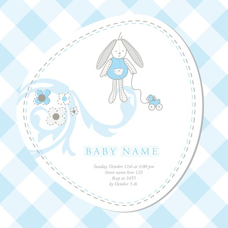 Baby arrival card with copy space Stock Vector - 8859766