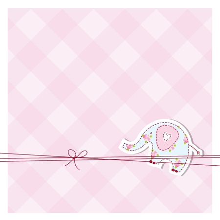 Baby shower card Stock Vector - 12391834