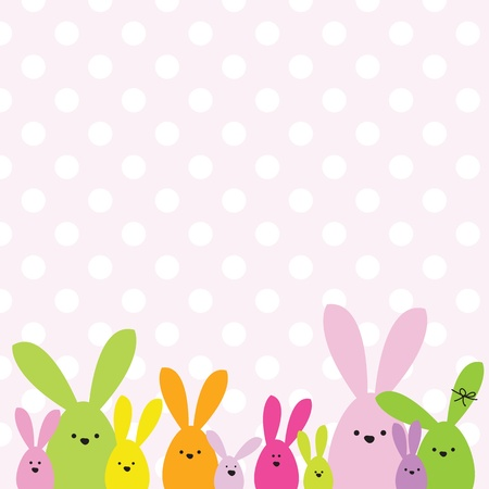 cute rabbit: Easter card with copy space