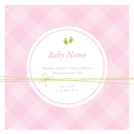 welcome party: Baby shower card