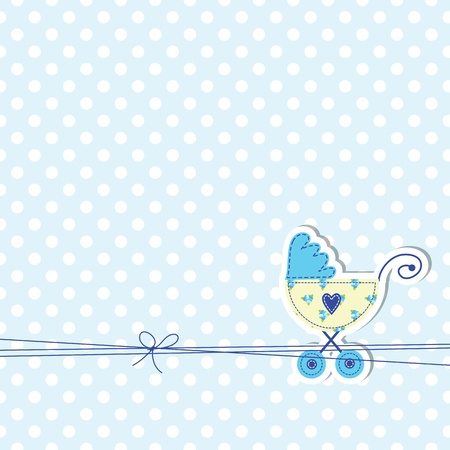 buggy: Baby shower card
