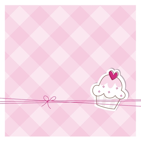 cupcakes background: Greeting card with copy space