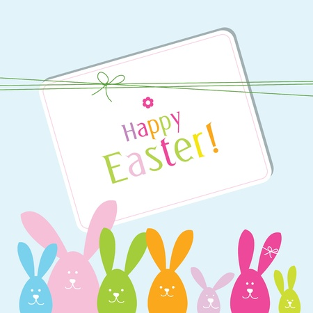 Easter card with copy spaceEaster card with copy space Vector Illustration