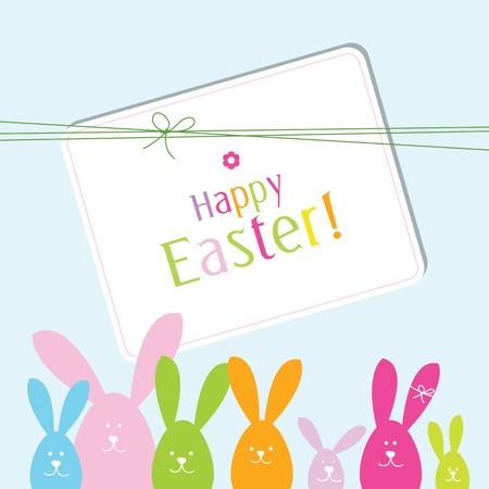 Tarjeta de Pascua con la copia de la tarjeta spaceEaster con copia espacio Ilustración de vector