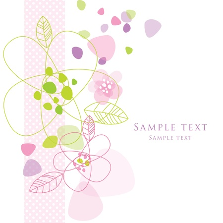 with copy space: Floral card with copy space Illustration