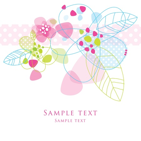 Floral card with copy space Stock Vector - 12391805