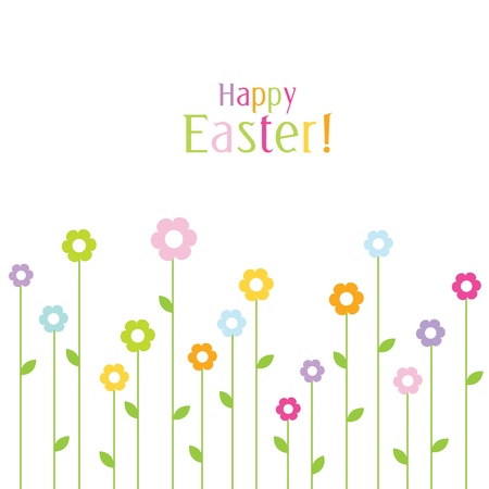 spring message: Easter card with copy space