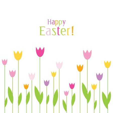 easter message: Easter card with copy space