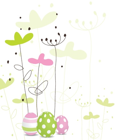 traditional events: Easter card with copy space