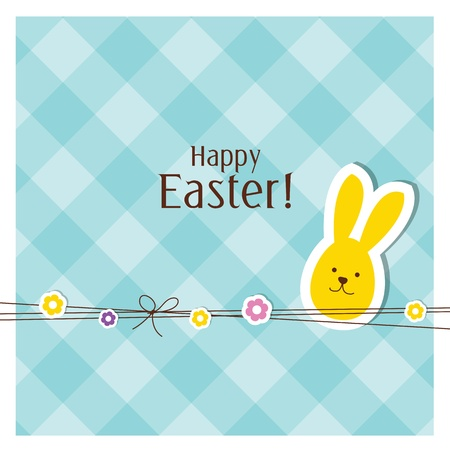 easter bunnies: Easter card with copy space