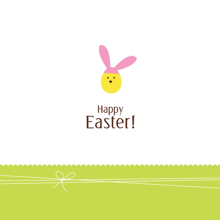 Easter card with copy space Stock Vector - 12391830