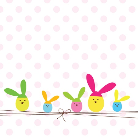 Easter card with copy space Stock Vector - 12391821