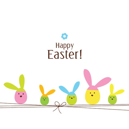 easter decorations: Easter card with copy space