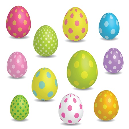 Easter eggs - design elements Vector