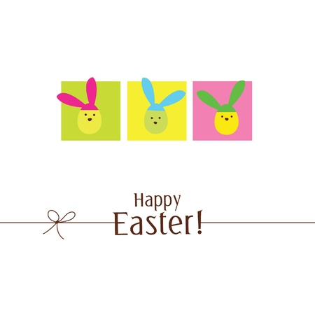 Easter card with copy space Stock Vector - 12391777