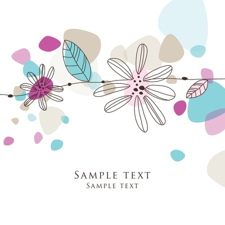 spring message: Greeting card with copy space
