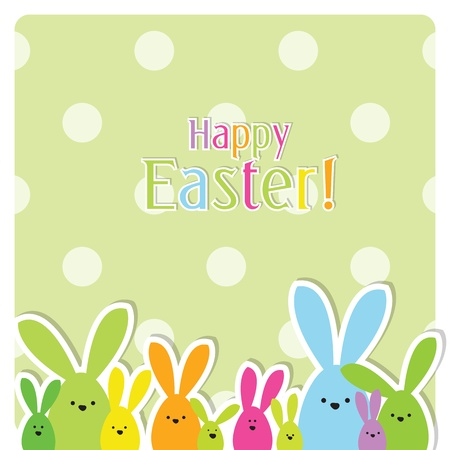 Easter card with copy space Stock Vector - 12900420